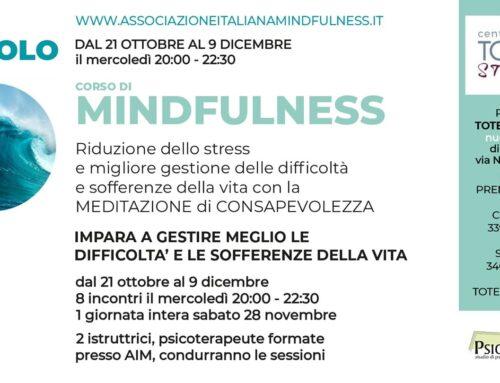 Percorso per la riduzione dello stress basato sulla consapevolezza.